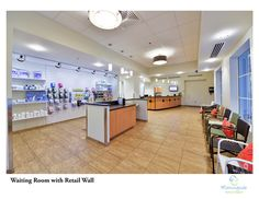 Waiting room with retail wall, Morningside Animal Hospital in Port Saint Lucie, Florida | dvm360 magazine