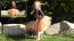 girl wearing a turkey tutu costume