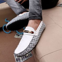 NEW Mens Comfy Leather Casual Slip On Loafer Shoes Moccasins Driving Shoes  #Handmade #DrivingMoccasins