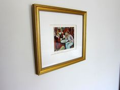 How to hang a picture...I need this, normally it takes many holes before I get a painting hung