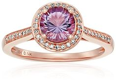 Pink Gold Rose De France and Diamond Engagement Ring I-J Color, Clarity), Size 7 >>> You can get more details here : Jewelry Trends Engagement Sets, Best Engagement Rings, Engagement Ring Settings, Vintage Engagement Rings, Pink And Gold, Rose Gold, Vintage Wedding Jewelry, Promise Rings For Her, Jewelry Trends