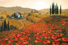 Hills of Tuscany II Reproduction d'art
