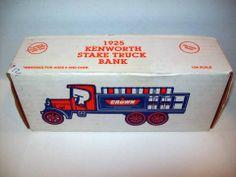 ERTL CROWN 1925 KENWORTH STAKE TRUCK DIE CAST