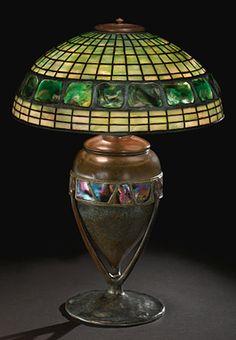 GEOMETRIC AND TURTLEBACK TILE TABLE LAMP