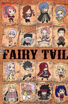 Fairy tail Chibi characters 2