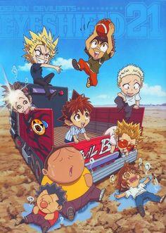 Tags: Anime, Car, Eyeshield 21, Hiruma Yoichi, Raimon Taro, Ryokan Kurita, Shozo Togano