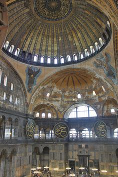Istanbul: Hagia Sophia – Hayley – Join the world of pin Sacred Architecture, Religious Architecture, Hagia Sophia Istanbul, Empire Ottoman, Turkey Images, Early Christian, Thinking Day, Places Of Interest, Istanbul Turkey