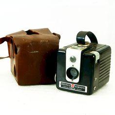 Vintage Box Camera Brownie HawkEye Flash Model 120 by BrassLens, $31.00