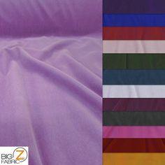 "SOLID TRIPLE VELVET NYLON FABRIC 44"" WIDTH CLOTHING FASHION DRAPERY CRAFTS | eBay"