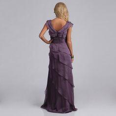 Adrianna Papell Women's Chiffon Tiered Petal Dress   Overstock.com