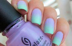 Uñas decoradas de color mate, uñas decoradas color mate degrade.  Follow! #manicuracolores #unghiecolore #uñasvistosas