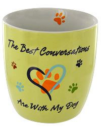 The Best Conversations Are With My Dog Mug at The Animal Rescue Site, $9.95