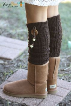 Legwarmers - Boho, Cable Knitted