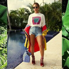 Stunning: Beyonce shared a series of sizzling images to her Instagram account