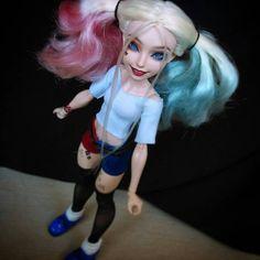 "HaRLeY QuiNn Suicide Squad OOAK DC Comics Superhero Girl 12"" Doll Repaint Figure…"