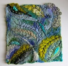 These are stunning - felt and embroidery!