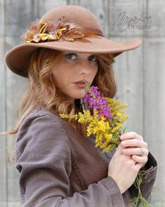 Hey, I found this really awesome Etsy listing at https://www.etsy.com/listing/216916459/rustic-wide-brim-hat-brown-felt-picture