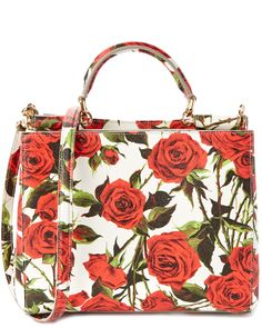 Dolce & Gabbana Dauphine Sicily Rose Leather Tote is on Rue. Shop it now.