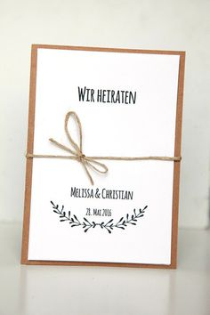 Einladungskarten   Einladungen Zur Hochzeit   DIY   Ein Designerstück Von  Reflect Photographie Bei DaWanda