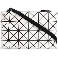 Issey Miyake Baobao Prism Crossbody (4.214.350 IDR) ❤ liked on Polyvore featuring bags, handbags, shoulder bags, white, white shoulder bag, crossbody handbags, white cross body handbag, white crossbody handbags and white crossbody purse