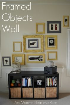 Love the 3D effect of this wall of frames.