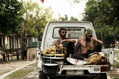 Surf hippies...On the move.....modern quiver.....timeless vibe.