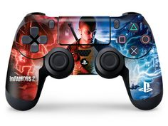 inFAMOUS 2 Skin for Sony PS4 controller by Skinit http://www.skinit.com/create-your-own?utm_source=Pinterest&utm_medium=social&utm_campaign=forthegamers