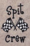 Spit Crew Embroidery Design-3 Sizes by 8Clawsandapaw.com