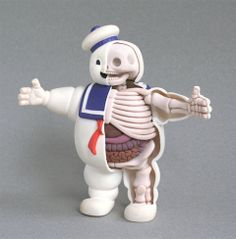 Stay Puft Marshmallow Man Anatomy Sculpture by Jason Freeny Toy Art, Geeks, Art Jouet, Stay Puff, Anatomy Sculpture, Man Anatomy, Anatomy Models, Culture Pop, Popular Toys