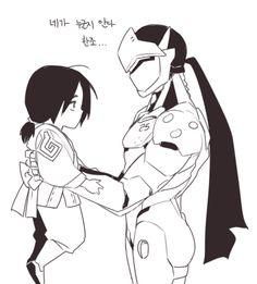 Artist: http://qkddiqkddi2.tumblr.com/archive Genji and young Hanzo