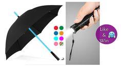 Blog Geburtstag Gewinnspiel Special #2 🎉 - Susi und Kay Projekte Gewinnt einen Regenschirm mit integrierter LED Taschenlampe & 7-farbigem LED-Stiel. #gewinnspiel #gewinnen #gewinnergesucht #gratis #Verlosung #Regen #Regenschirm