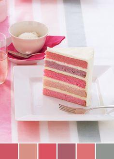 Pink rainbow cake <3