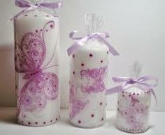 hand paint candles - Buscar con Google