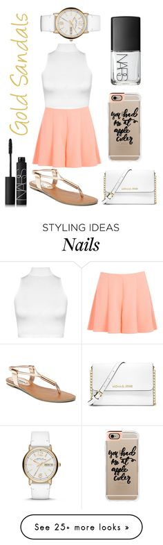 """""""Girly"""" by jbowness on Polyvore featuring WearAll, Steve Madden, NARS Cosmetics, Miss Selfridge, MICHAEL Michael Kors, Casetify and Marc by Marc Jacobs"""