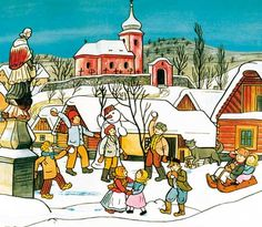 Kalendárium: prosince 1887 – narodil se ilustrátor a malíř Josef Lada The Good Soldier Svejk, Modern Sculpture, Illustrators, Folk Art, Cool Pictures, Modern Art, Fairy Tales, Illustration Art, Drawings