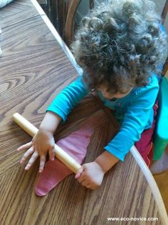 Play dough keeps this busy body busy while I make dinner. Love this eco-dough made with natural colors and scent from #WildMint. Tons of ideas for lovely non-toxic gifts for everyone. #spon