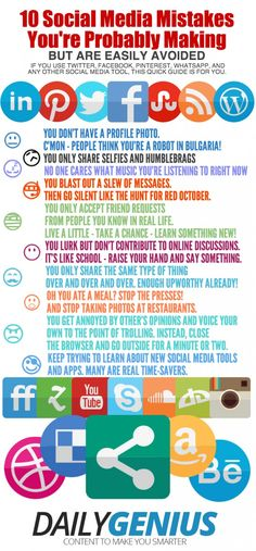 10 Social Media Mistakes You're Probably Making - Edudemic