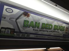 "QR Have you been struggling to answer the question ""HOW DO I LET AN ENTIRE SUBWAY CAR KNOW THAT I HAVE BEDBUGS?""? Well look no further!"
