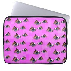 Pink Guinea Pigs Pattern 13 inch Computer Sleeve - pattern sample design template diy cyo customize