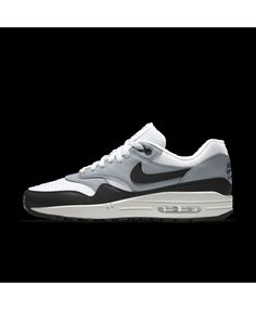 size 40 ec494 3262c Nike Air Max 1 Mens Essential Id Grey Black White Shoes Outlet Mens Grey  Shoes,