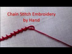 Hand Embroidery: How to do Twisted Chainstitch - YouTube