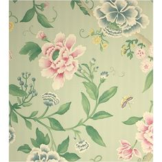 Porcelain Garden Wallpaper ($79) ❤ liked on Polyvore featuring backgrounds