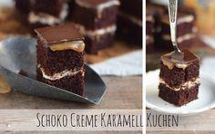 Ein Glücklichmacher: Schoko Creme Karamell Kuchen