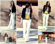 White pants for Spring!  Love the colors!  Also has a tutorial on how to take in the thigh of a pant.