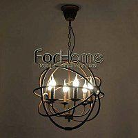 [ ForHome ] S-131 LOFT 工業 RH 系列 倉庫風 復古酒吧 仿古圓環 蠟燭 工業吊燈 小  復刻版