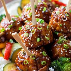 You're going to love these tender, flavorful sticky Asian meatballs!