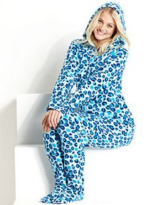 c1f44083160 Jenni by Jennifer Moore Footed Hooded Pajamas Women - Bras