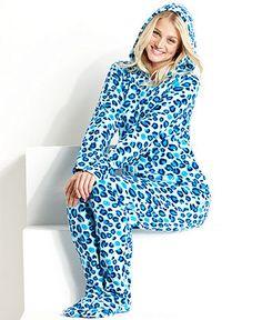 996fee30b5 Jenni by Jennifer Moore Footed Hooded Pajamas Women - Bras