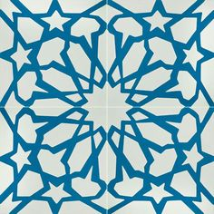 Alhambra 50 B customizable  8x8 deco concrete tile from Echo Collection