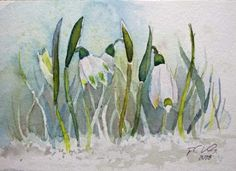 Erste Märzenbecher (c) Miniatur in Aquarell von FRank Koebsch Baltic Sea, Art Education, Watercolor Flowers, Easter, Spring, Cards, Pictures, Watercolors, Paintings